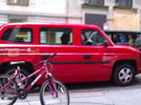 photo of a red Nissan MV-1
